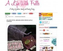 A Life With Frills press for Aliya j