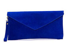Home › Accessories › Aliya.J Royal Blue Suede Clutch Bag