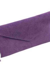 Aliya.J Purple Suede Clutch Bag