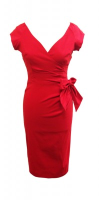 The Pretty Dress Company - Hourglass Red Pencil Dress