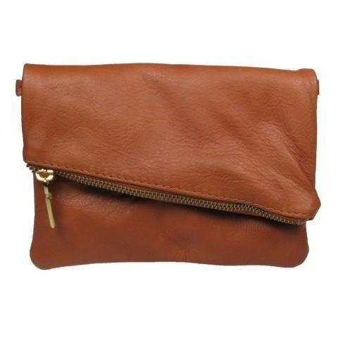 Italian Leather Fold Over Clutch BagAliya.J London