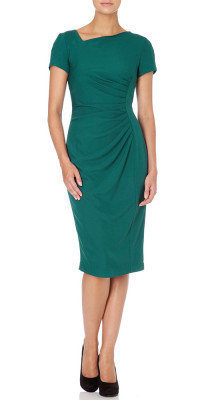 Fever Michigan Dress in Forest Green