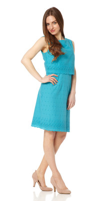 Fever Pacific Double Layer Dress Jewel Green