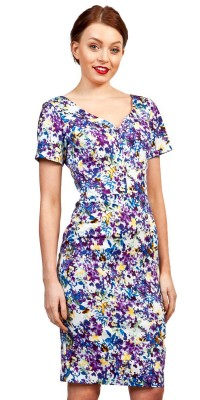 Diva Iris Pencil dress Kew Print