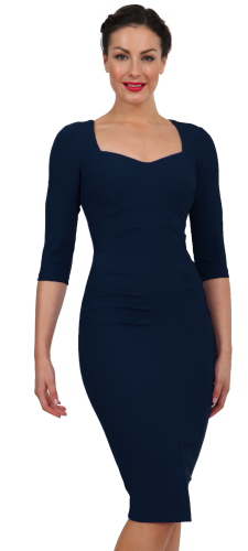Diva zelma 3/4 sleeve dress navy