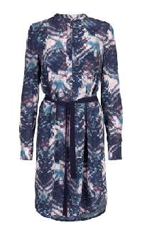 Noa Noa dress with blue, pink and black print