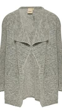 ICHI open grey cardigan