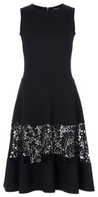 French Connection black dress with lace