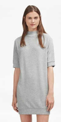 French Connection Grey Ribbed Dress