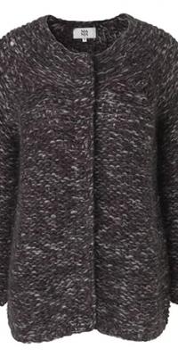 Purple Hand Knitted Cardigan