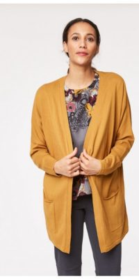 Mustard Organic Cotton Cardigan