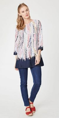 Thought spot tunic